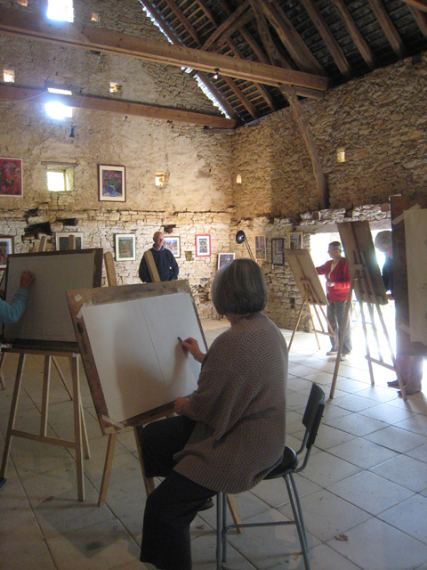 Artists-working-in-the-barn