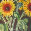 Sunflowers in silver vase thumbnail (272x300)