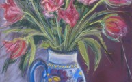 Tulips-&-Roses-in-deco-vase