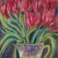 Parrot tulips in a deco vase