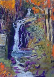 rydal-falls-pastel