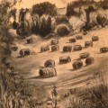 Haybales on the hillside (692x1024)