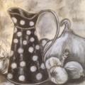 Spotty jug still life